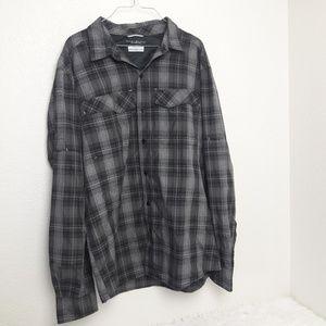 Columbia Omni-Shield Large Plaid Button Up Shirt